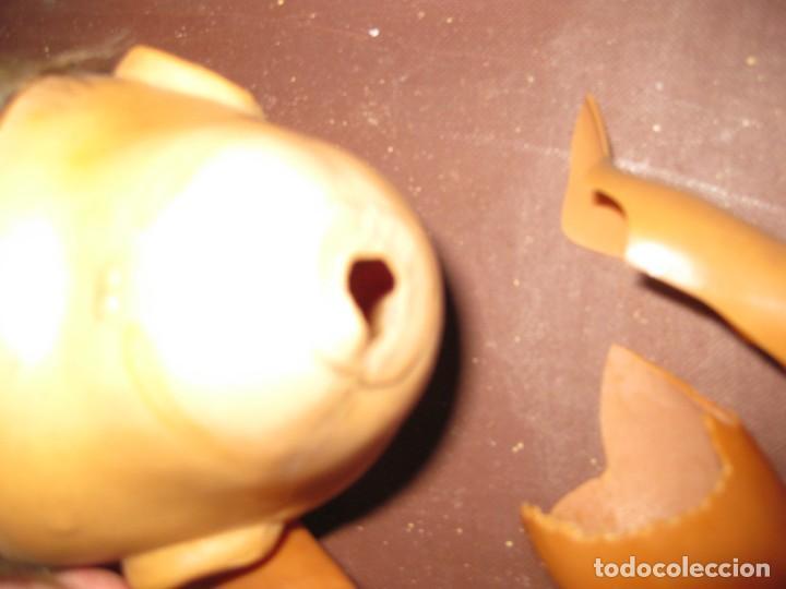 Muñeca española clasica: antiguo muñeco muñeca rota defectuoso . marcado 40 para piezas juanin ? ropa - Foto 6 - 131195624