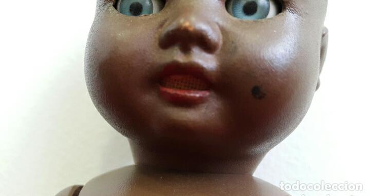 Muñeca española clasica: MUÑECO CELULOIDE BEBÉ NEGRITO ICSA?? AÑOS 50 - Foto 3 - 146684493