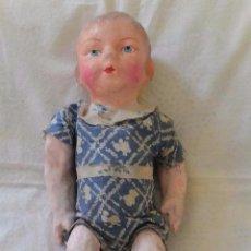 Muñeca española clasica: ANTIGUO MUÑECO PEPÓN CARTÓN PIEDRA. Lote 132919206