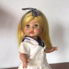 Muñeca española clasica: MUÑECA ANGELA DE INDUSTRIAS LEB CABELLO DORADO AÑOS 50. Lote 133115550