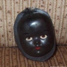 Muñeca española clasica: CARA DE MUÑECO NEGRITO,CELULOIDE,AÑOS 40 Ó 50. Lote 133186490