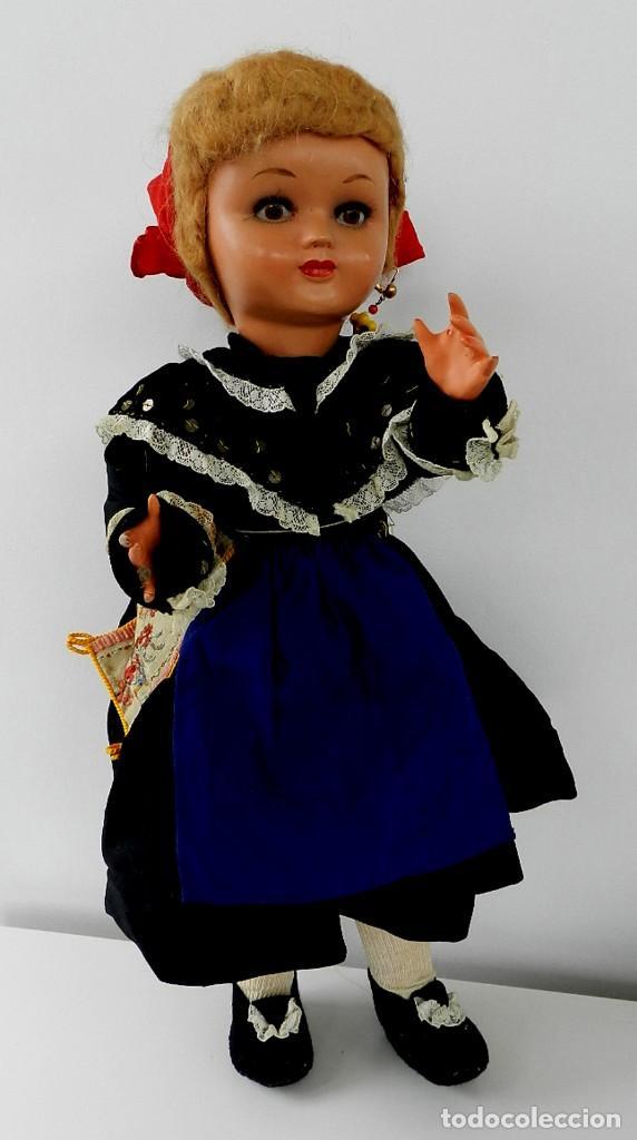 MUÑECA DE ISIDRO RICO, DE FINALES DE LOS 40, REALIZADA EN CARTÓN PIEDRA, CABELLO DE MOHAIR, OJO FIJO (Juguetes - Otras Muñecas Españolas Clásicas (Hasta 1.960))