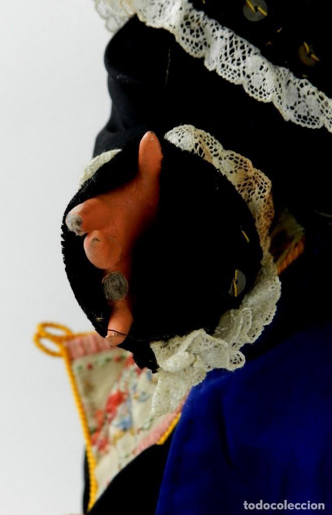 Muñeca española clasica: MUÑECA DE ISIDRO RICO, DE FINALES DE LOS 40, REALIZADA EN CARTÓN PIEDRA, CABELLO DE MOHAIR, OJO FIJO - Foto 3 - 133470426