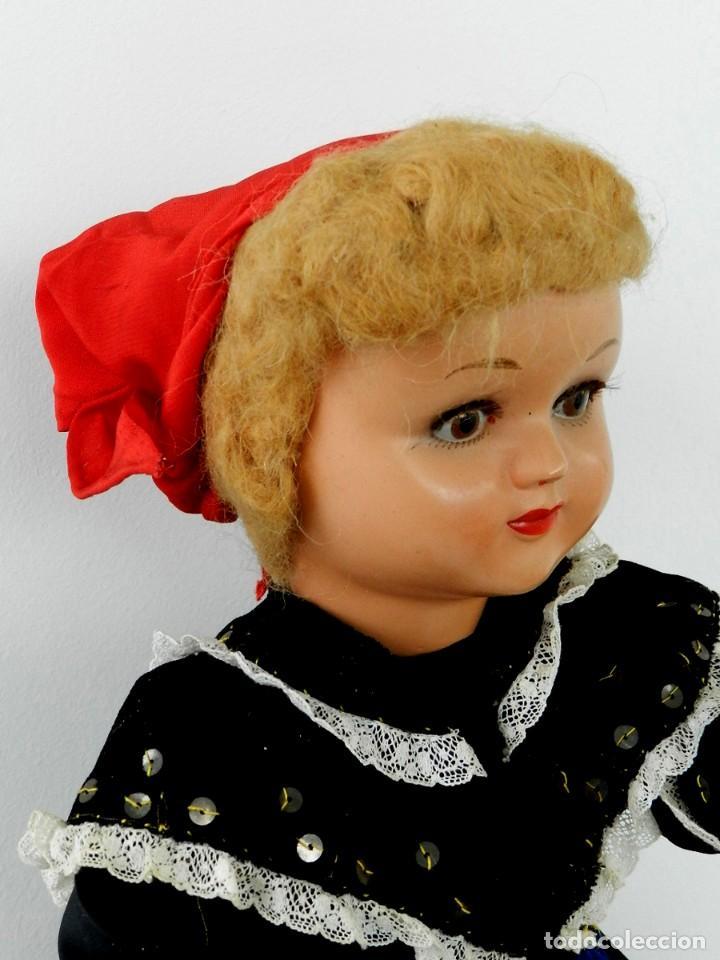 Muñeca española clasica: MUÑECA DE ISIDRO RICO, DE FINALES DE LOS 40, REALIZADA EN CARTÓN PIEDRA, CABELLO DE MOHAIR, OJO FIJO - Foto 4 - 133470426