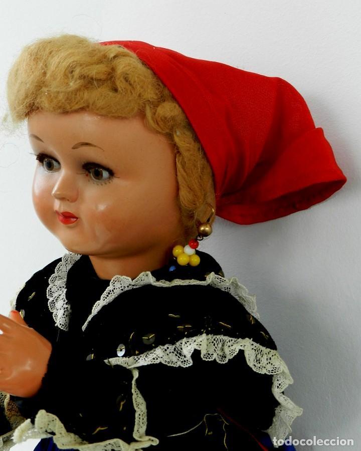 Muñeca española clasica: MUÑECA DE ISIDRO RICO, DE FINALES DE LOS 40, REALIZADA EN CARTÓN PIEDRA, CABELLO DE MOHAIR, OJO FIJO - Foto 5 - 133470426