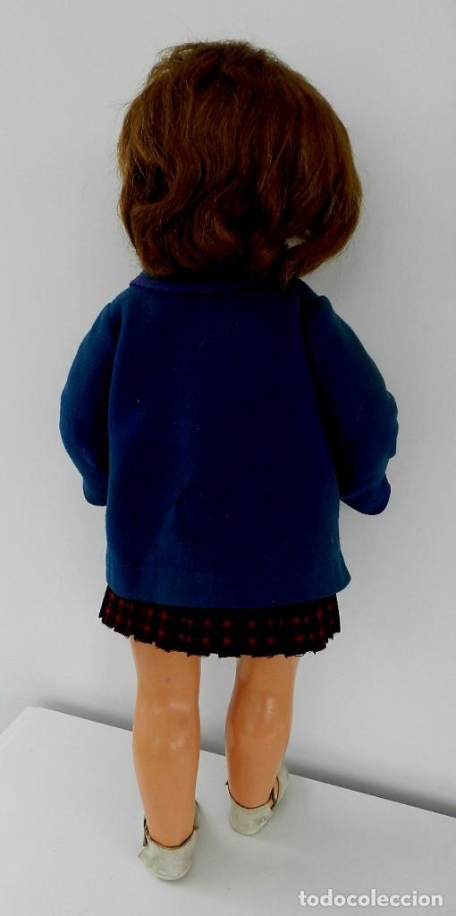 Muñeca española clasica: MUÑECA MILY AÑOS 50, REALIZADA EN CARTÓN PIEDRA, CABELLO NATURAL, OJO DURMIENTE, VISTE FALDA DE TERG - Foto 8 - 133471250
