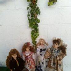 Muñeca española clasica: BONITO LOTE DE 4 MUÑECAS ANTIGUAS. Lote 133480754