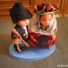 Muñeca española clasica: MUÑECAS PAREJA TIPICA TRAJE ESPAÑOL EN PEFECTO ESTADO. Lote 134182154