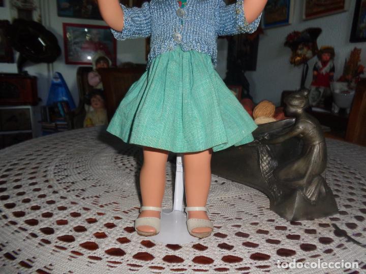 Muñeca española clasica: PRECIOSA Y MUY RARA MUÑECA CARTON PIEDRA, CREO QUE ES NURIA DE FLORIDO EPOCA GISELA, OJOS FLIRTY - Foto 7 - 135254610