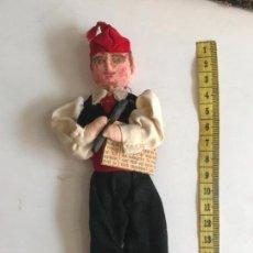 Muñeca española clasica: ANTIGUO MUÑECO DE TRAPO HECHO A MANO MUY DETALLADO- HUERTANO¿?. Lote 135787578
