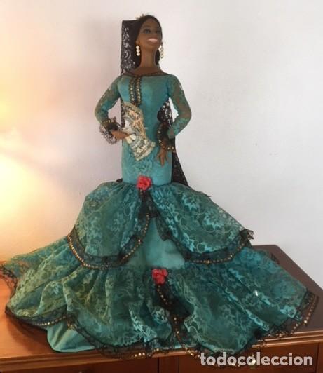 Muñeca española clasica: Espectacular antigua muñeca Marin , levanta los brazos para poder bailar, Chiclana años 40 - Foto 2 - 160329904