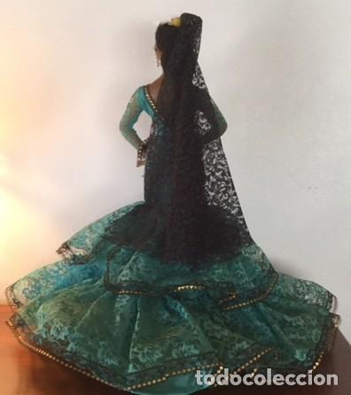 Muñeca española clasica: Espectacular antigua muñeca Marin , levanta los brazos para poder bailar, Chiclana años 40 - Foto 3 - 160329904
