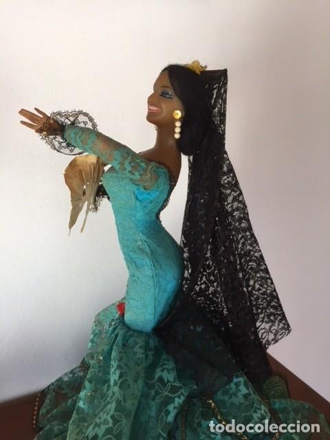 Muñeca española clasica: Espectacular antigua muñeca Marin , levanta los brazos para poder bailar, Chiclana años 40 - Foto 7 - 160329904