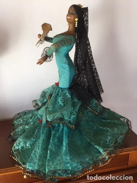 Muñeca española clasica: Espectacular antigua muñeca Marin , levanta los brazos para poder bailar, Chiclana años 40 - Foto 8 - 160329904