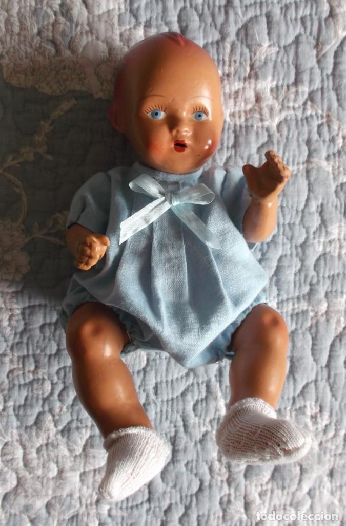 Muñeca española clasica: raro bebé español de piedra tamaño grande 23 cm, vestido original - Foto 3 - 138032962