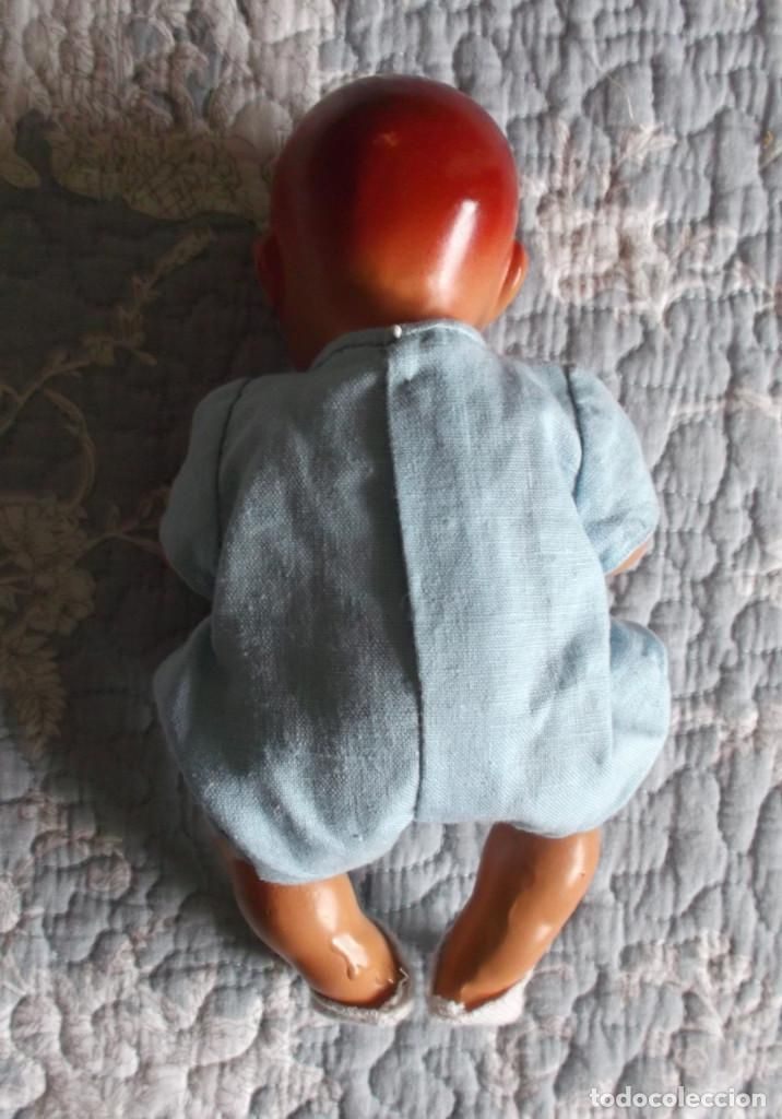 Muñeca española clasica: raro bebé español de piedra tamaño grande 23 cm, vestido original - Foto 4 - 138032962