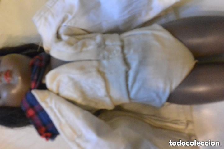 Muñeca española clasica: MUÑECA NEGRITA CELULOIDE DE ICSA. OJOS MOVIBLES. AÑOS 50. ROPA ORIGINAL - Foto 3 - 138072338