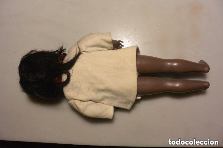 Muñeca española clasica: MUÑECA NEGRITA CELULOIDE DE ICSA. OJOS MOVIBLES. AÑOS 50. ROPA ORIGINAL - Foto 4 - 138072338