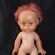 Muñeca española clasica: ANTIGUA MUÑECA NEGRA TODA DE GOMA, SIN MARCA. 31 CM. AÑOS 60. GOMA . Lote 138662282
