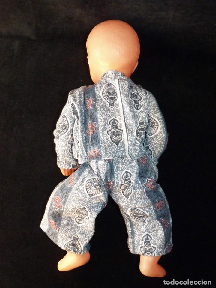Muñeca española clasica: ANTIGUA MUÑECA DE PLÁSTICO, PELO MOLDE, SIN MARCA. 40 cm. AÑOS 50 - Foto 4 - 138662810