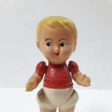Muñeca española clasica: ANTIGUA MUÑECA SONAJERO . REALIZADA EN PLASTICO RIGIDO. Lote 138890582