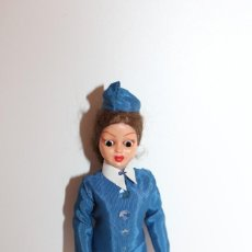 Muñeca española clasica: ANTIGUA MUÑECA AZAFATA DE CELULOIDE - PELO MOHAIR- CARA DECORADA - AÑOS 60. Lote 139697946
