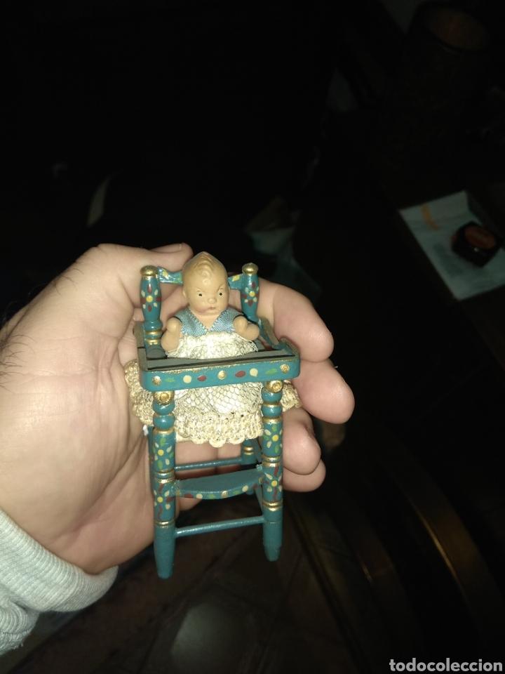 Muñeca española clasica: Preciosa Muñeca Bebé de Terracota en Trona de Madera - Foto 5 - 140163081