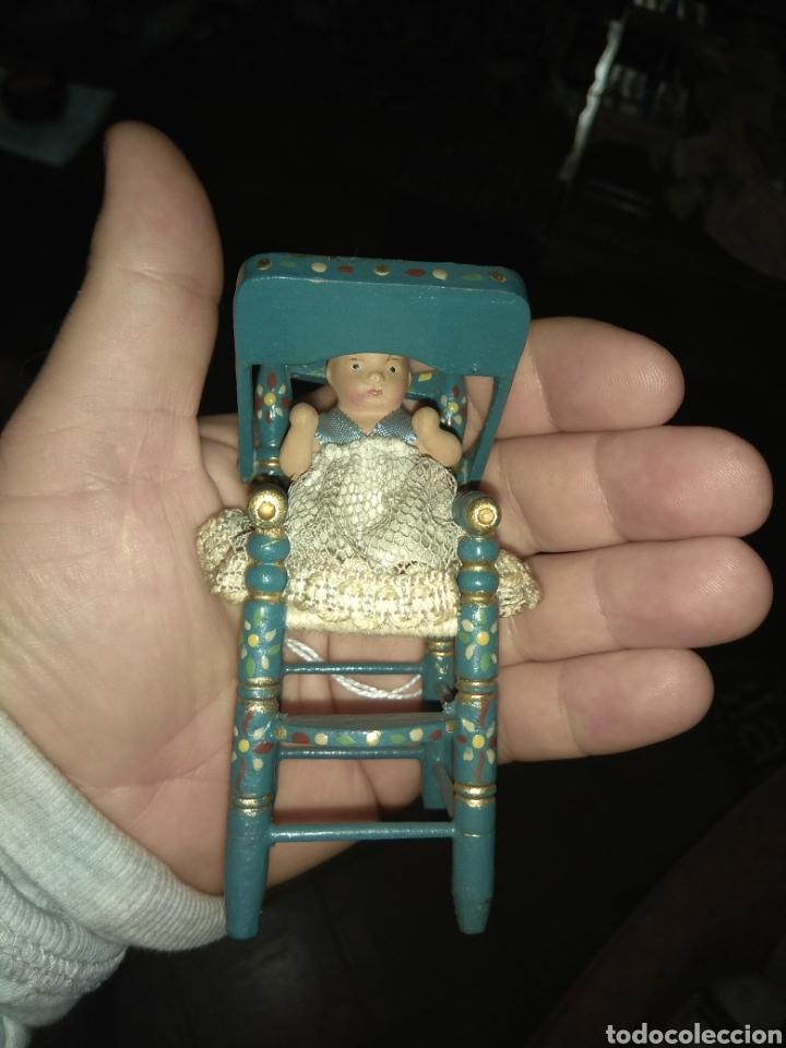 Muñeca española clasica: Preciosa Muñeca Bebé de Terracota en Trona de Madera - Foto 9 - 140163081