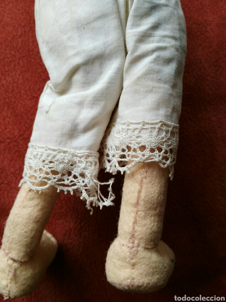 Muñeca española clasica: ANTIGUA MUÑECA DE TRAPO. ENVIO INCLUIDO EN EL PRECIO. - Foto 4 - 140459590