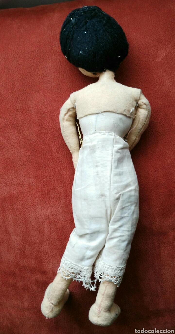 Muñeca española clasica: ANTIGUA MUÑECA DE TRAPO. ENVIO INCLUIDO EN EL PRECIO. - Foto 5 - 140459590