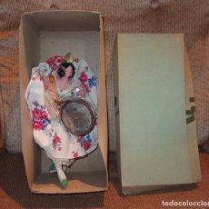 Muñeca española clasica: VALENCIANA CON PAELLERA,MUÑECAS YOLANDA,SIMILAR A LAYNA,CAJA ORIGINAL,AÑOS 50. Lote 140599946