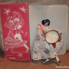 Muñeca española clasica: VALENCIANA CON PAELLERA,MUÑECAS SALLY,CAJA ORIGINAL,FINALES DE LOS AÑOS 50. Lote 140603826