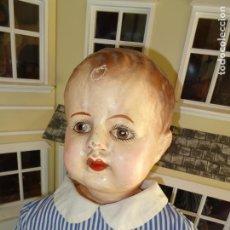 Muñeca española clasica: GUAPISIMO PEPON ANTIGUO TALLA GRANDE CARTON PIEDRA AÑOS 20 O 30. Lote 141461138