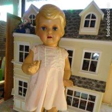 Muñeca española clasica: PRECIOSA MUÑECA ANTIGUA DE ICSA - IBERICA COMERCIAL SA - TALLA GRANDE - AÑOS 40/50. Lote 141464386