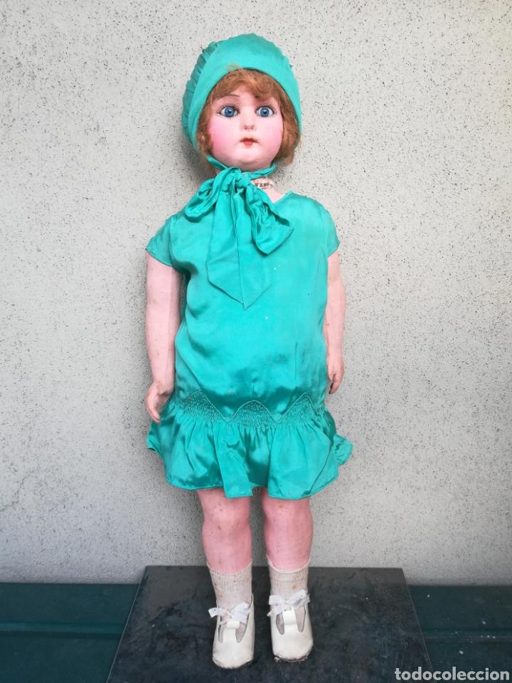 Muñeca española clasica: Antigua Muñeca marca Florido andadora 80 cms de altura ojos fijos de cristal - Madrid - Original - Foto 6 - 143282918