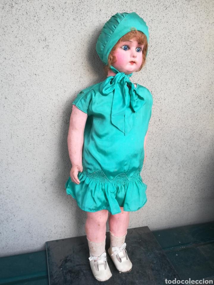 Muñeca española clasica: Antigua Muñeca marca Florido andadora 80 cms de altura ojos fijos de cristal - Madrid - Original - Foto 8 - 143282918