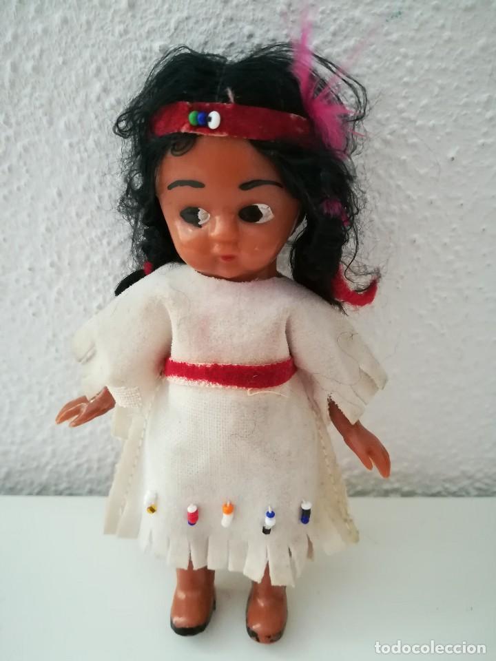 MUÑECA ANTIGUA TRAJE INDIA (Juguetes - Otras Muñecas Españolas Clásicas (Hasta 1.960))