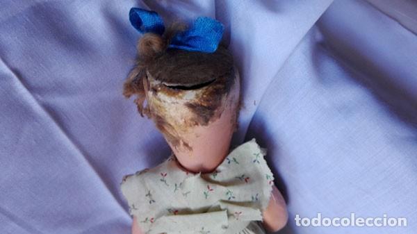 Muñeca española clasica: ANTIGUA MUÑECA DE CARTÓN PIEDRA , OJOS DURMIENTES, VESTIDO ORIGINAL - Foto 8 - 143976994