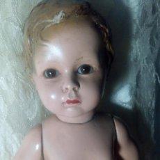 Muñeca española clasica: IMPRESIONANTE MUÑECO OLOTINO DE 1930 OJOS DE CRISTAL. Lote 144215090