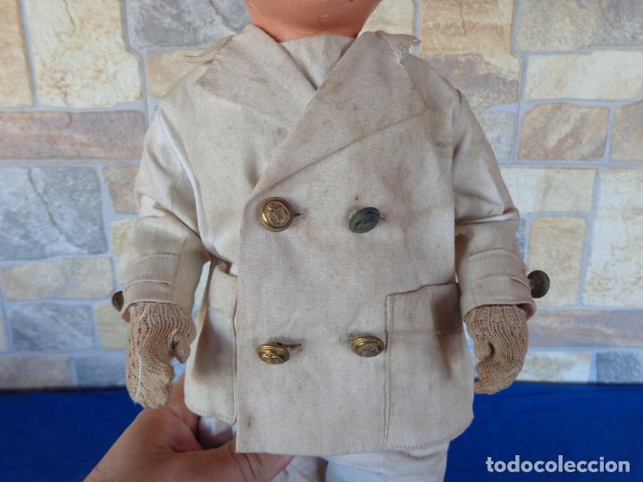 Muñeca española clasica: ANTIGUA MUÑECA DE CARTON PIEDRA AÑOS 40/50, PARA PIEZAS O RESTAURAR VER FOTOS Y DESCRIPCION! SM - Foto 10 - 144802638