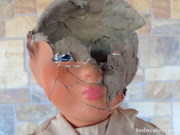 Muñeca española clasica: ANTIGUA MUÑECA DE CARTON PIEDRA AÑOS 40/50, PARA PIEZAS O RESTAURAR VER FOTOS Y DESCRIPCION! SM - Foto 14 - 144802638