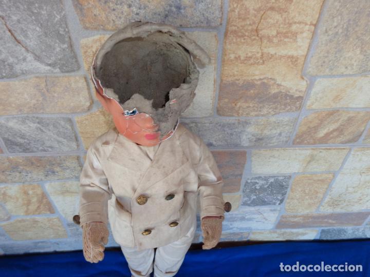 Muñeca española clasica: ANTIGUA MUÑECA DE CARTON PIEDRA AÑOS 40/50, PARA PIEZAS O RESTAURAR VER FOTOS Y DESCRIPCION! SM - Foto 18 - 144802638