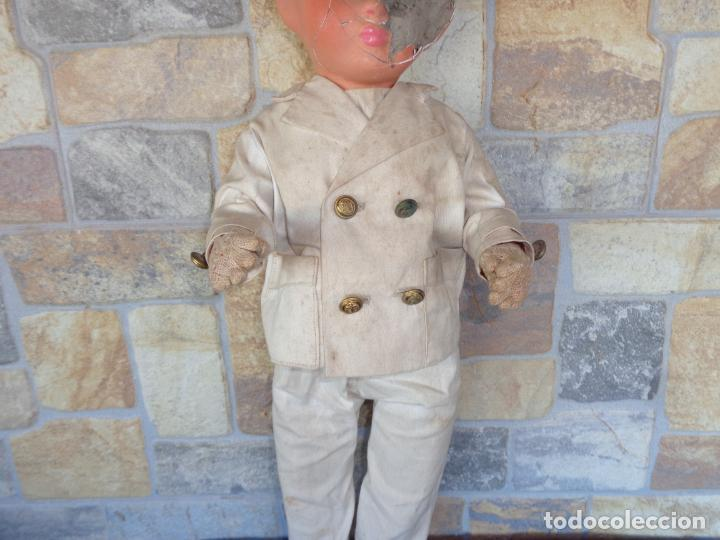 Muñeca española clasica: ANTIGUA MUÑECA DE CARTON PIEDRA AÑOS 40/50, PARA PIEZAS O RESTAURAR VER FOTOS Y DESCRIPCION! SM - Foto 19 - 144802638