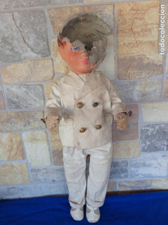 Muñeca española clasica: ANTIGUA MUÑECA DE CARTON PIEDRA AÑOS 40/50, PARA PIEZAS O RESTAURAR VER FOTOS Y DESCRIPCION! SM - Foto 20 - 144802638