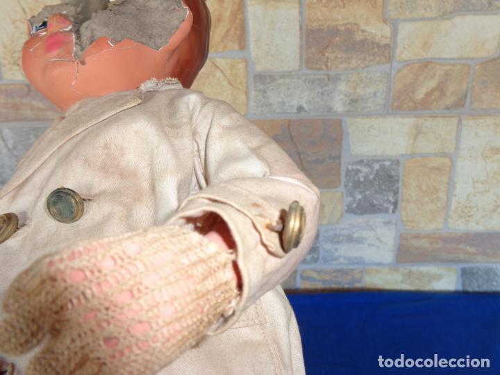 Muñeca española clasica: ANTIGUA MUÑECA DE CARTON PIEDRA AÑOS 40/50, PARA PIEZAS O RESTAURAR VER FOTOS Y DESCRIPCION! SM - Foto 21 - 144802638