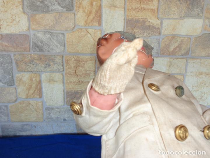 Muñeca española clasica: ANTIGUA MUÑECA DE CARTON PIEDRA AÑOS 40/50, PARA PIEZAS O RESTAURAR VER FOTOS Y DESCRIPCION! SM - Foto 22 - 144802638
