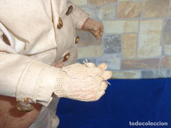 Muñeca española clasica: ANTIGUA MUÑECA DE CARTON PIEDRA AÑOS 40/50, PARA PIEZAS O RESTAURAR VER FOTOS Y DESCRIPCION! SM - Foto 23 - 144802638