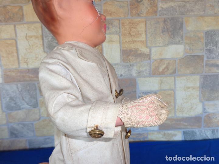 Muñeca española clasica: ANTIGUA MUÑECA DE CARTON PIEDRA AÑOS 40/50, PARA PIEZAS O RESTAURAR VER FOTOS Y DESCRIPCION! SM - Foto 28 - 144802638