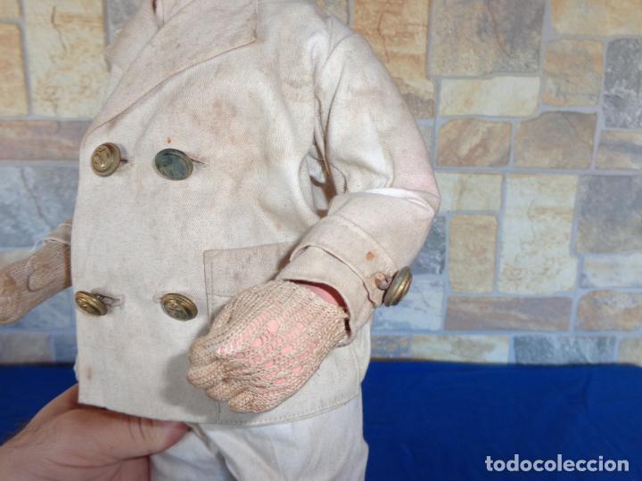 Muñeca española clasica: ANTIGUA MUÑECA DE CARTON PIEDRA AÑOS 40/50, PARA PIEZAS O RESTAURAR VER FOTOS Y DESCRIPCION! SM - Foto 29 - 144802638