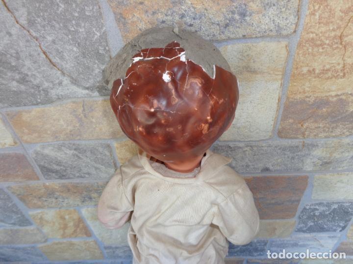 Muñeca española clasica: ANTIGUA MUÑECA DE CARTON PIEDRA AÑOS 40/50, PARA PIEZAS O RESTAURAR VER FOTOS Y DESCRIPCION! SM - Foto 34 - 144802638
